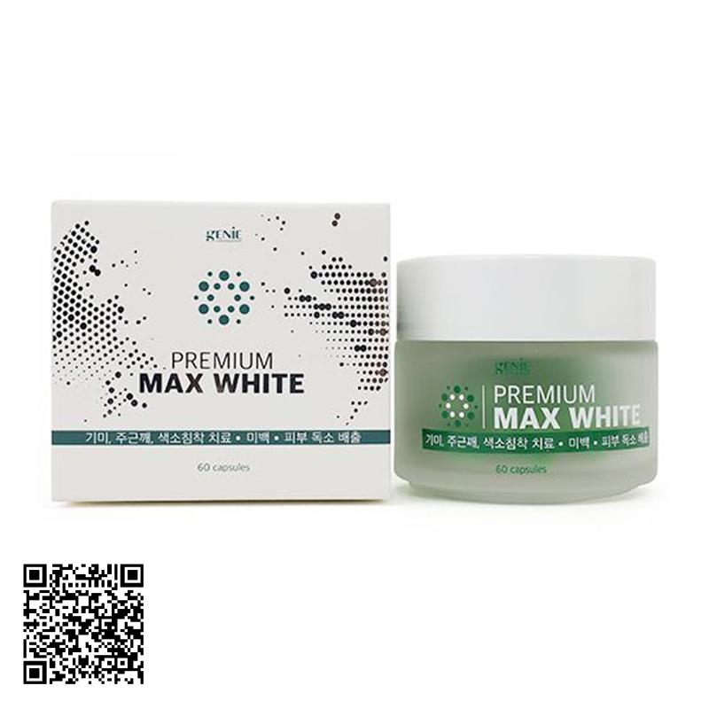 Viên Uống Trắng Da, Cân Bằng Nội Tiết Tố Genie Premium Max White Màu Xanh